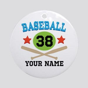 Personalized Hockey Player Number Ornament (Round)
