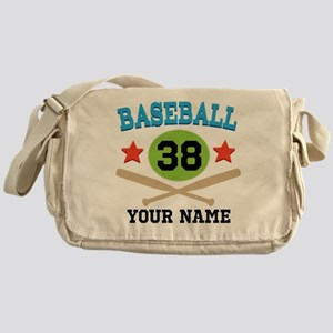 Personalized Hockey Player Number Messenger Bag