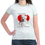 Love My Westie Jr. Ringer T-Shirt