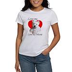Love My Westie Women's Classic White T-Shirt