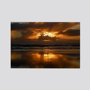 Beach Reflections Rectangle Magnet