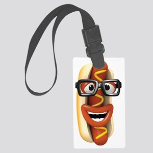 3d-hotdog-glasses Large Luggage Tag