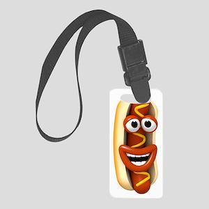 3d-hotdog-laugh Small Luggage Tag