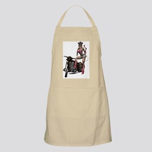 Biker_Girl_Hellbilly_Devil_Girl_notecard Apron