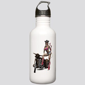Biker_Girl_Hellbilly_D Stainless Water Bottle 1.0L