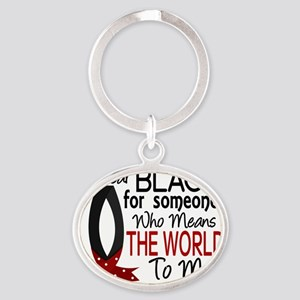 D Means The World To Me Melanoma Oval Keychain