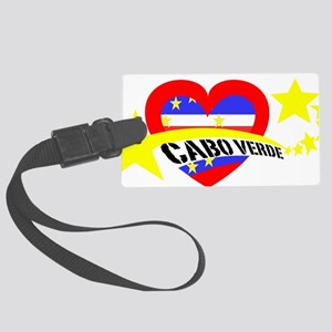 Cabo Verde Heart Stars Large Luggage Tag
