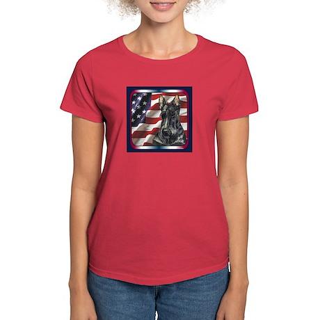 Scotty USA Flag Women's Dark T-Shirt