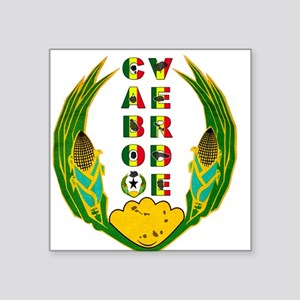 "Cabo Verde Emblem Square Sticker 3"" x 3"""