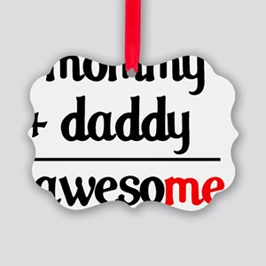mommy daddy Picture Ornament