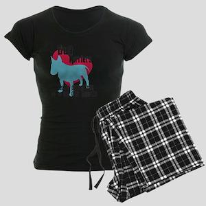 pawprints3 Women's Dark Pajamas