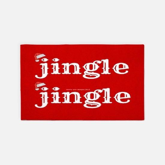 Santa Jingle 3'X5' Area Rug
