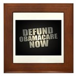 Defund Obamacare Now Framed Tile