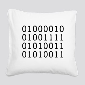 BOSS in Binary Code Square Canvas Pillow
