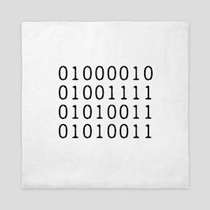 BOSS in Binary Code Queen Duvet