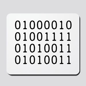 BOSS in Binary Code Mousepad