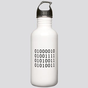 BOSS in Binary Code Water Bottle