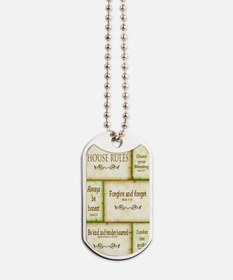 House Rules Dog Tags