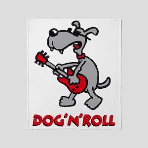 dog n roll A 3c Throw Blanket