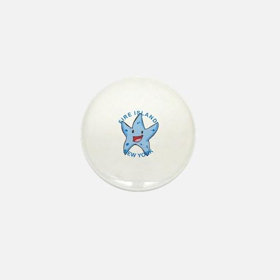 Funny Fire island Mini Button
