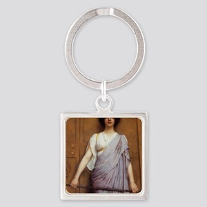 Godward_At_The_Temple_Gate_note Square Keychain