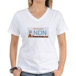 Navajo Nation NDN plate Women's V-Neck T-Shirt