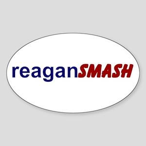Reagan Smash Oval Sticker