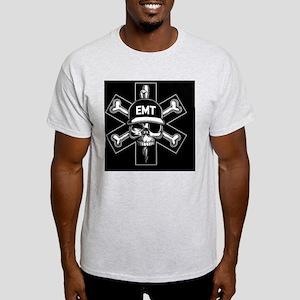 emt-skull-CRD Light T-Shirt