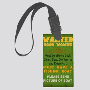 Wanted Good Woman Large Luggage Tag