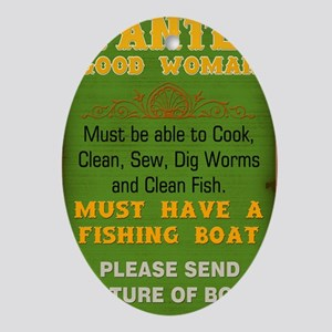 Wanted Good Woman Oval Ornament