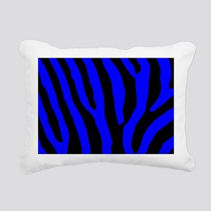 laptopskinbluezebra Rectangular Canvas Pillow