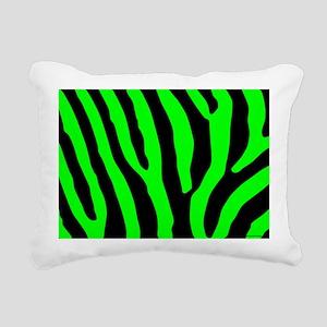 laptopskingrnzebra Rectangular Canvas Pillow