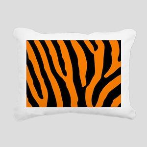 laptopskinorangezebra Rectangular Canvas Pillow