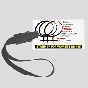WOMENS RIGHTS Large Luggage Tag