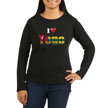 I love Togo Women's Long Sleeve Dark T-Shirt