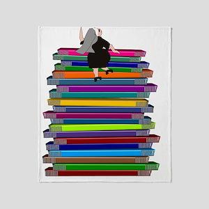 book stack NUN Throw Blanket