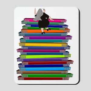 book stack NUN Mousepad