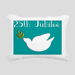 25 jubilee teal Rectangular Canvas Pillow