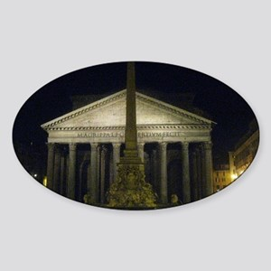 pantheon by night Sticker (Oval)