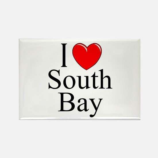 """I Love South Bay"" Rectangle Magnet"