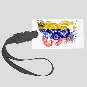 Venezuela textured flower Large Luggage Tag