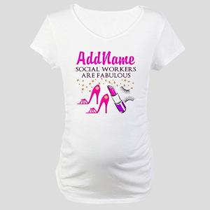 #1 SOCIAL WORKER Maternity T-Shirt