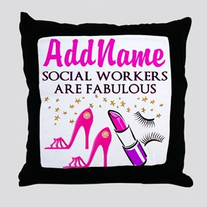 #1 SOCIAL WORKER Throw Pillow