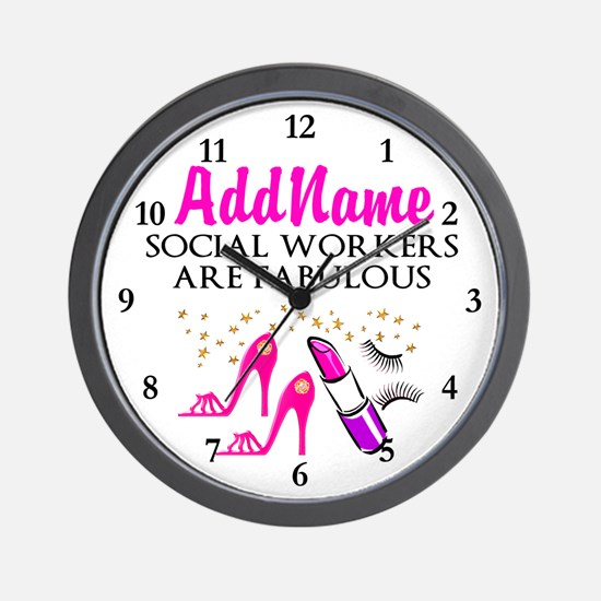 #1 SOCIAL WORKER Wall Clock