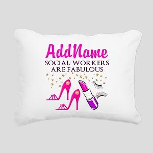 #1 SOCIAL WORKER Rectangular Canvas Pillow