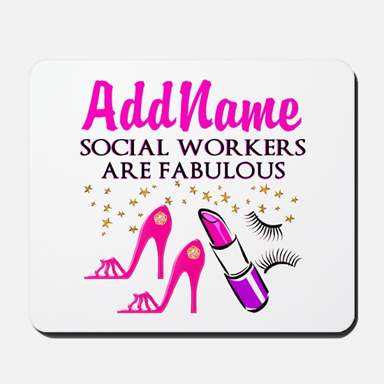 #1 SOCIAL WORKER Mousepad