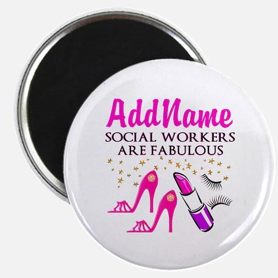 "#1 SOCIAL WORKER 2.25"" Magnet (10 pack)"
