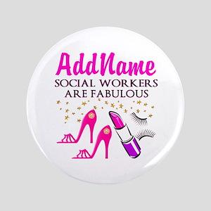 """#1 SOCIAL WORKER 3.5"""" Button"""