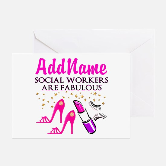 #1 SOCIAL WORKER Greeting Cards (Pk of 10)