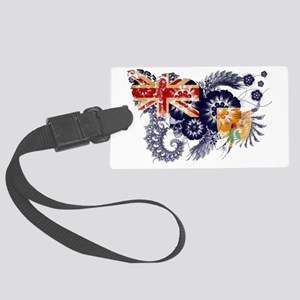 Turks And Caicos Islands texture Large Luggage Tag